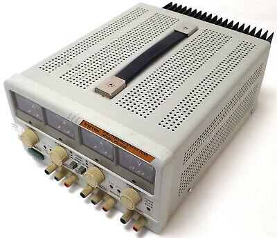 Instek Pc-3030 Dual Tracking W 5v Fixed Dc Power Supply 30v 6a 120v Tested