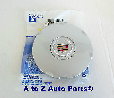 NEW 2008-2009 Cadillac CTS Alloy Wheel SILVER Center Cap, OEM GM
