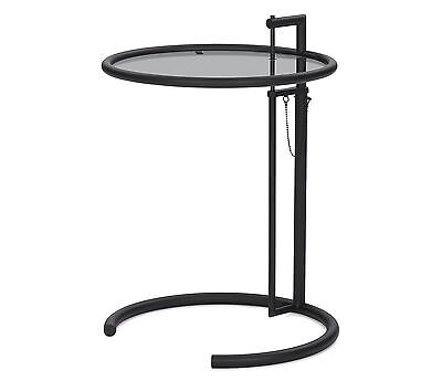 ClassiCon E1027 Adjustable Table Eileen Gray schwarz Parsolglas grau