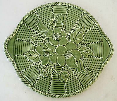 Bordallo Pinheiro Platter/Cake - FLORAL Textured Top