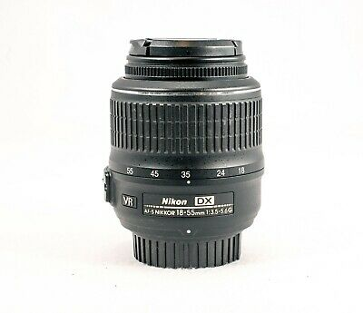 Nikon 18-55mm f/3.5-5.6 AF-S G VR Lens  with Front and Rear Lens Caps, Tested