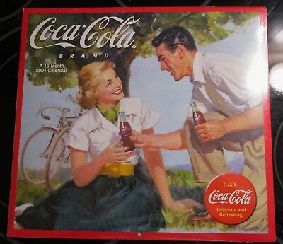 SEALED COCA COLA 2004 16 MONTH CALENDAR  COKE IMAGES ~Free Shipping