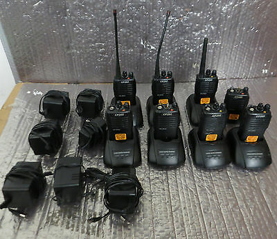 Lot Of 8 Pro Series Cp260u Two Way Radios - Working Pull. W Chargers