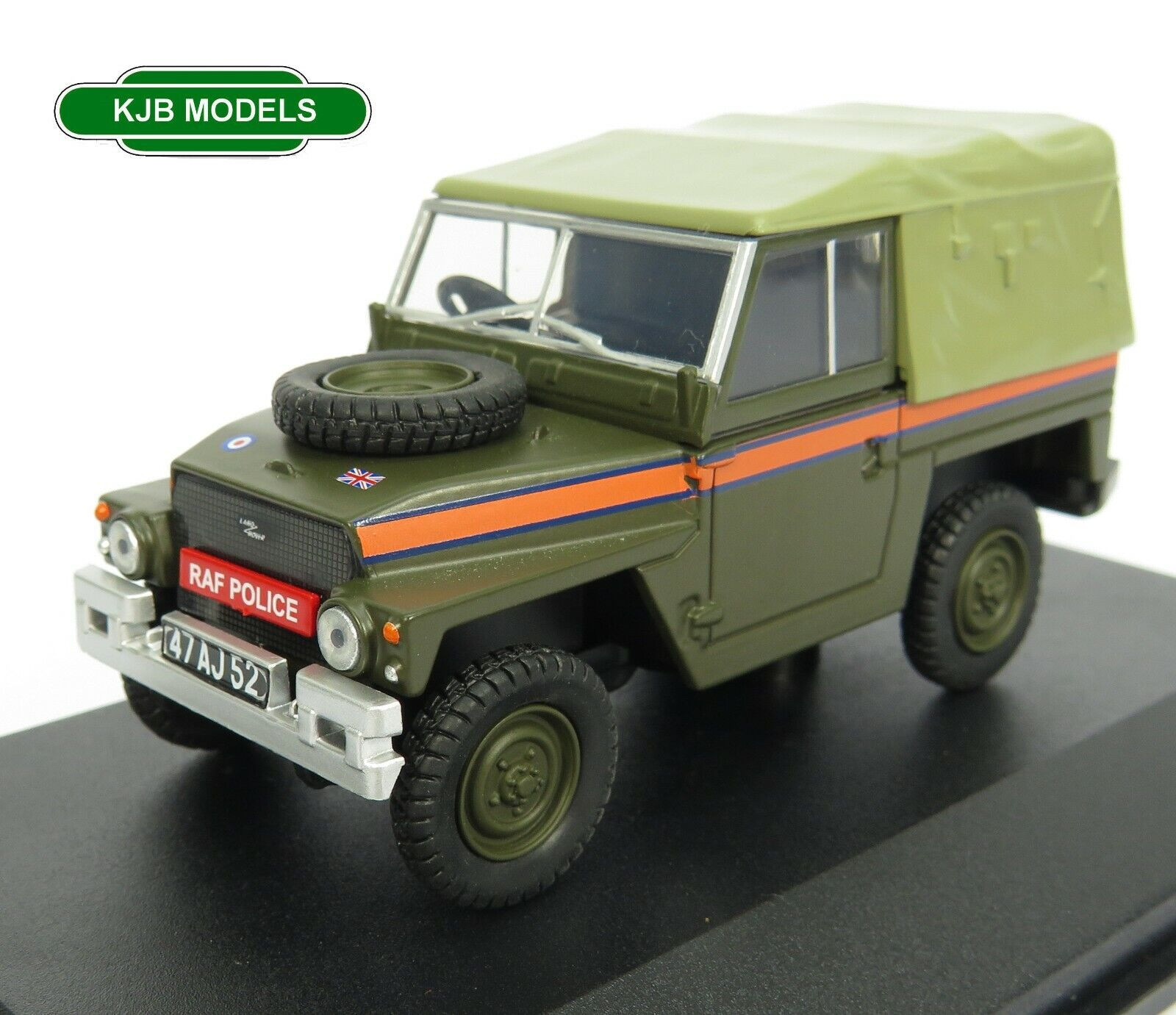 BNIB O GAUGE OXFORD 1:43 43LRL007 Land Rover Lightweight Canvas RAF Police