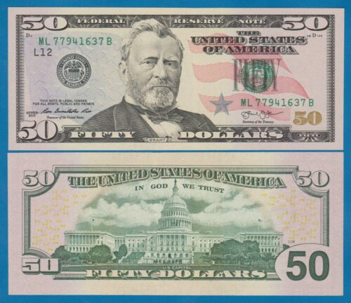 USA $50 Dollars 2013 UNC P 542 United States U.S. (1 Note!) Low Shipping Combine