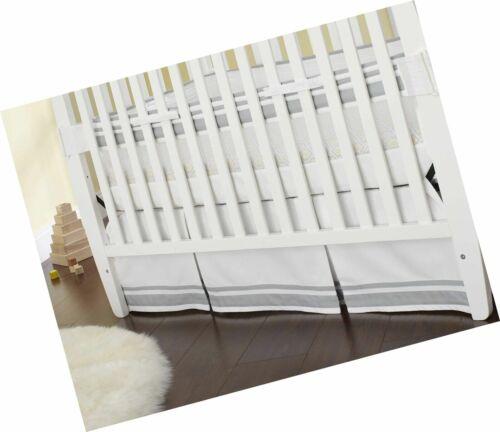 Just Born Crib Skirt, Grey Free Shipping