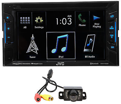 """JVC KW-V130BT 6.2"""" 2-Din DVD Player Receiver w/Bluetooth iPhone/Android+Camera"""