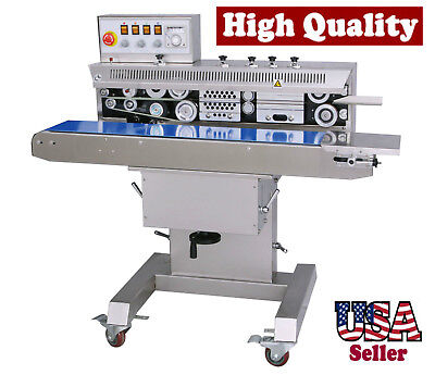 Table Top Stainless Steel Horizontal Band Sealer W Ink Coding Printer And Stand