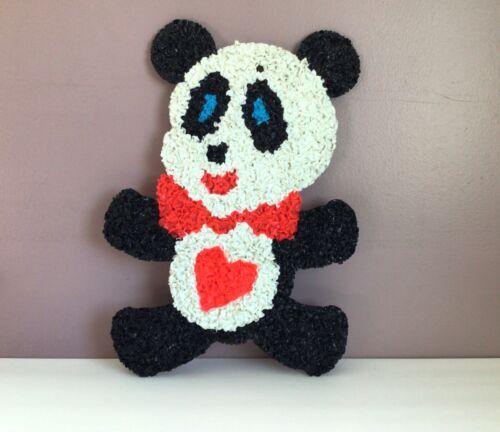 Vintage Melted Plastic Popcorn Panda #5 Valentine