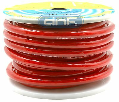 0 Gauge 100% Copper OFC Red Power Ground Cable Wire 25 Feet FT