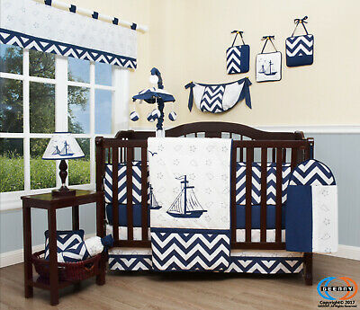 13PCS Nautical Explorer Baby Nursery Crib Bedding Sets  Holiday Special