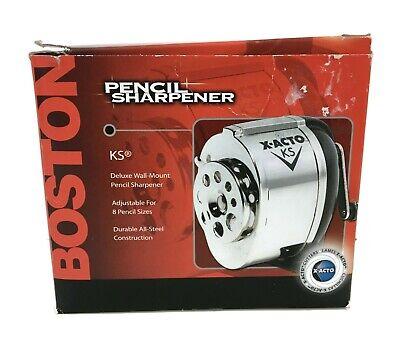 Boston X-acto Ks Pencil Sharpener Deluxe Wall Mount New In Box Model 1031 School