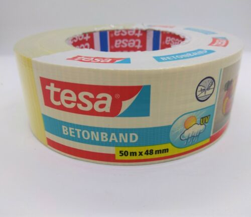 "TESA BETONBAND  UV YELLOW Duct Tape 2"" X 55Y (48mmX50M ) ,  24 ROLLS MADE IN USA"