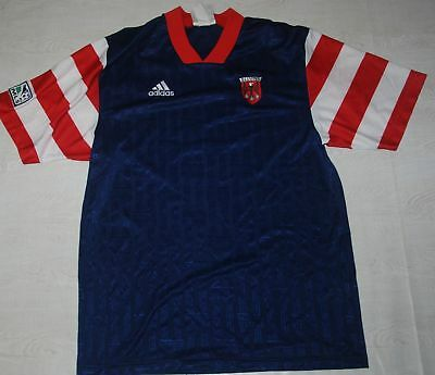 RARE 1997 DC UNITED SHIRT FOOTBALL TEAM SOCCER MLS ADIDAS JERSEY BLUE  3THIRD KIT 8dd4072d4