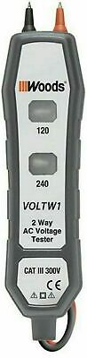 Woods 2-way Ac Voltage Tester Test Household Electrical Outlets 120v And 240v Ac