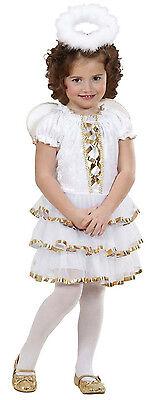 Engelskostüm 3tlg Engels Kinder Kostüm Kinderkostüm Engel Christkind weiß Gr 104 ()