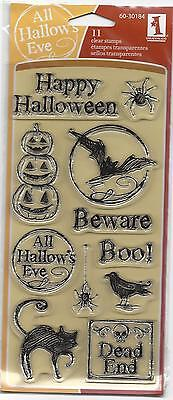 Inkadinkado Clear Stamps MARKER SKETCH HALLOWEEN 11 Pc Set 60-30184 HTF - Halloween Clear Stamps