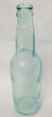 Adolphus Busch AB connected Aqua P7 Handblown Beer Bottle circa 1895 - 1910