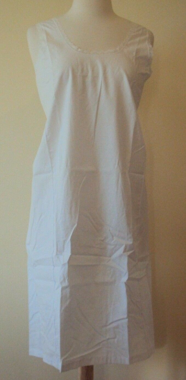 velrose lingerie cool cotton cotton full slips white style 801 size 34 54