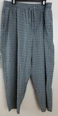 Nautica Mens Gray /Blue/Red Plaid Pajama Pants Summer Weight size XL
