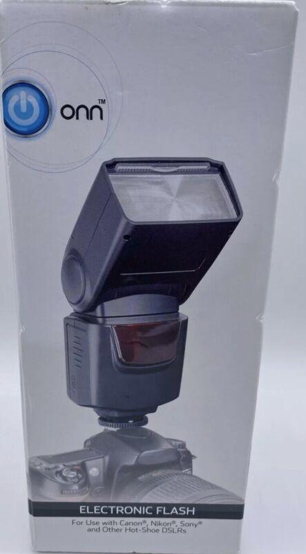 Onn Electronic Flash for DSLR Cameras (Canon, Nikon, Sony) New