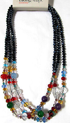 TS TAKING SHAPE Moheto Necklace faceted crystal bead jewellery jewelry NWT!