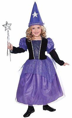 Girls Purple Wizard Costume Mystical Sorcerer Sorceress Fancy Dress Hat Kids - Wizard Girl Costume