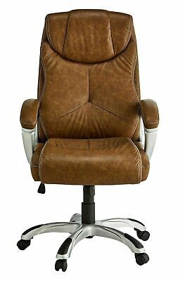 Used X-Rocker Leather Effect Executive Office Chair- Brown - GO35