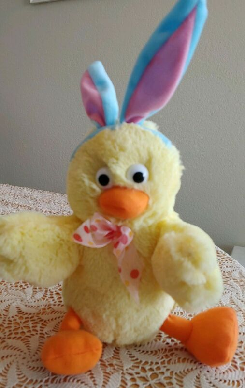 Easter Bunny Ears Chick Chicken Dance Animated Claps Wings Rocking Giggles Int