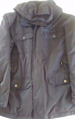 Mens Black Solid 3-in-1 Systems Whistle Zipper Jacket Reg L Ex Cond Hawke &