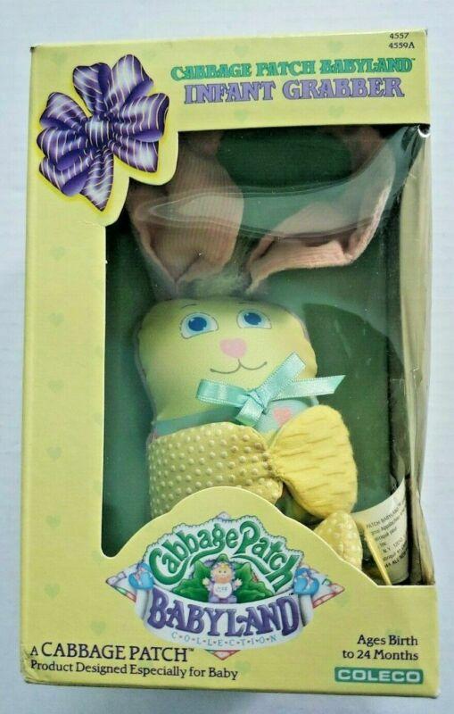 Vintage Rare Cabbage Patch Babyland Infant Grabber1988 Bunny NOS