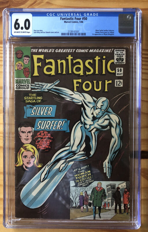Fantastic Four 50! CGC 6.0! Silver Surfer VS Galactus! Just Graded! New Case!