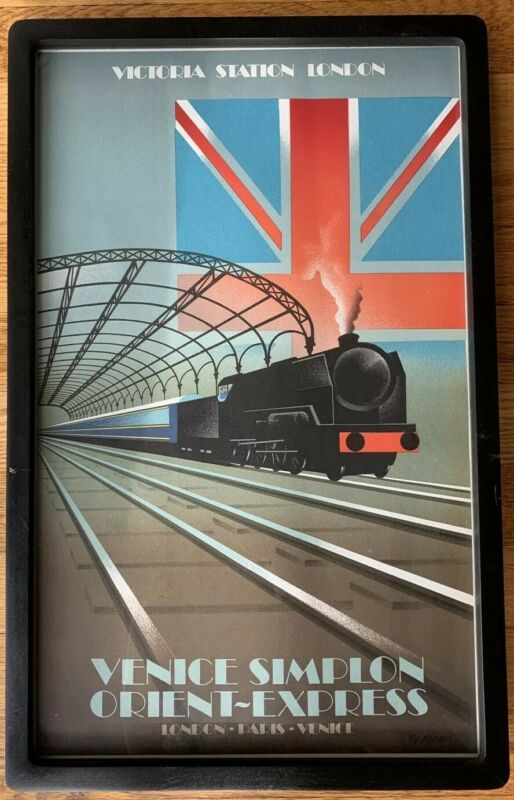 Paris for the weekend vintage railway train travel poster repro 24x36