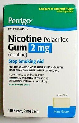 Perrigo Nicotine Polacrilex Gum 2mg Mint 110 Pieces - Nicotine Polacrilex Gum