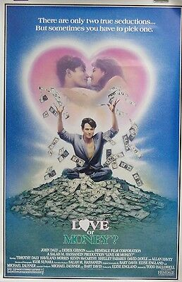 Love or Money Original Single Sided Movie Poster 1990 Tim Daly Haviland Morris
