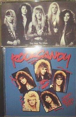 2CD LOT ROCK CANDY SUCKER FOR A PRETTY FACE CD + RAQUEL ST hair metal glam sleaz