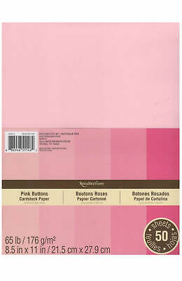 Pink Paper (NEW Recollections PINK BUTTONS Cardstock Paper 8.5