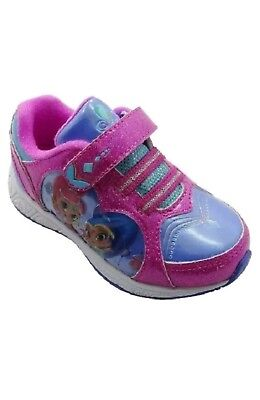 Nickelodeon SHIMMER AND SHINE ATHLETIC SHOES Sparkly Pink Sneakers Size 11 New  - Pink Sparkly Girls Shoes