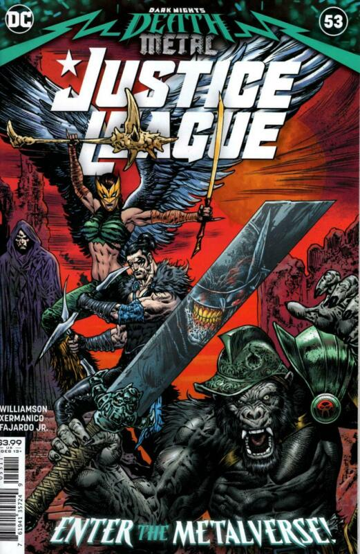 JUSTICE LEAGUE #53 1st APPEARANCE MINDHUNTER DOOM METAL DARK NIGHTS DEATH METAL