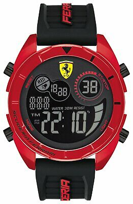 Scuderia Ferrari Men's Digital Watch Red Black