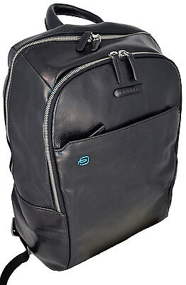 Zaino Piccolo Uomo Donna In Pelle Nero Piquadro Backpack Small Black Men Woman L