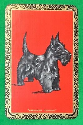Playing Cards 1 Single Swap Card Vintage ENN English Named ABERDEEN TERRIER Dog for sale  Shipping to Canada