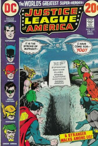 Justice League of America #103 Bronze Age December 1972 Phantom Stranger appears