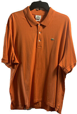 LACOSTE MEN'S ORANGE SHORT SLEEVE POLO SHIRT SIZE 8 (3XL)