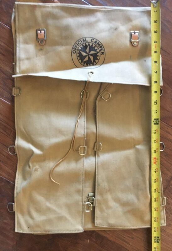 Vintage / Antique OFFICIAL CAMPER Backpack Knapsack Camping Canvas Material