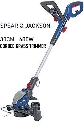 Spear &Jackson S6030ET 30cm Corded Grass Trimmer 600W garden electric power tool