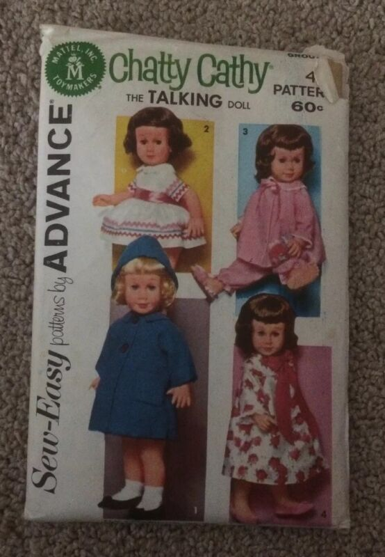 VINTAGE CHATTY CATHY SEW EASY ADVANCE GROUP G DOLL PATTERN UNCUT