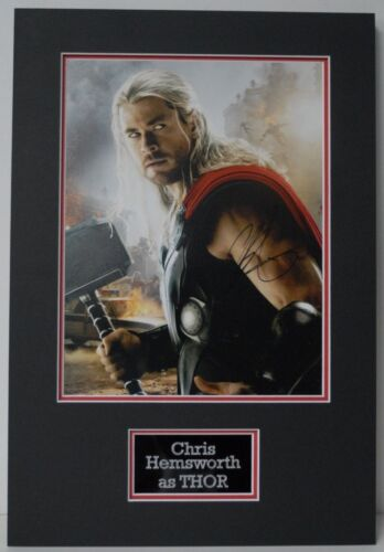 "Chris Hemsworth Signed 14X11 Photo Mounted ""The Avengers"" Thor AFTAL COA (A)"
