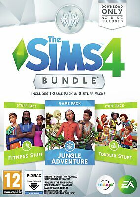 The Sims 4 Jungle Adventure Bundle Pack for PC.