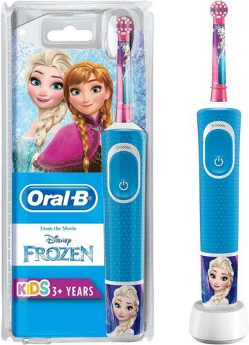 Oral-B Kids Frozen Elektrische Zahnbürste mit Disney-Stickern, für Kinder 3+